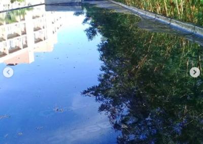 Teste Com água Impermeabilização em lage da subestação do quadro geral de baixa tensão