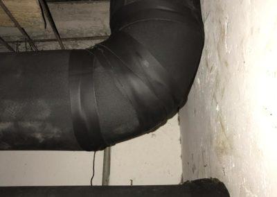 Isolamento elastomérico no sistema de água gelada na loja Renner do Madureira shopping